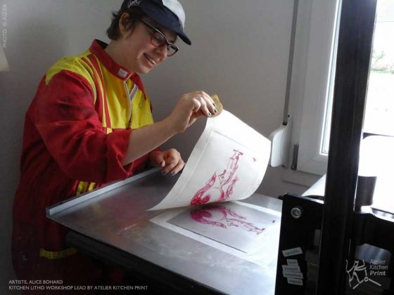 Accueil à l'atelier de l'artiste Alice Bohard
