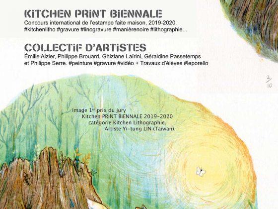 EXPOSITION KiTCHEN PRiNT BiENNALE, peintures & gravures de cinq artistes lorrains, livres d'artistes lycéens.