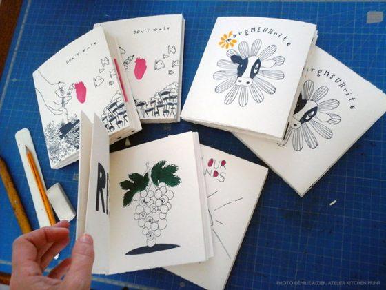 Micro-édition d'art en Kitchen Litho &  pochoir au Lycée. Article 2/2