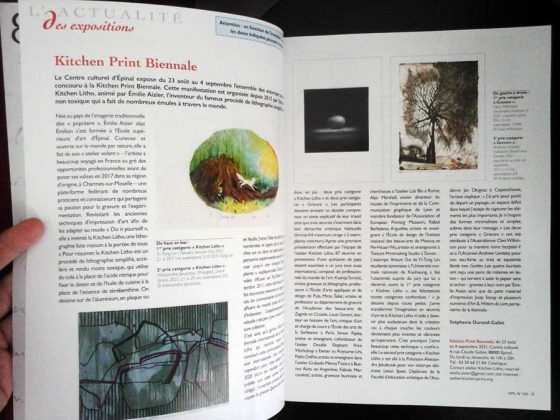 Article sur la Kitchen Print Biennale et ses lauréats dans la revue «Art & métiers du Livre» !
