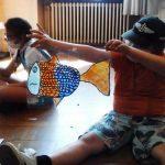 Préparation d'une vitrophanie avec des enfants pour la Fête des Images 2021 à Épinal – Article 1/2